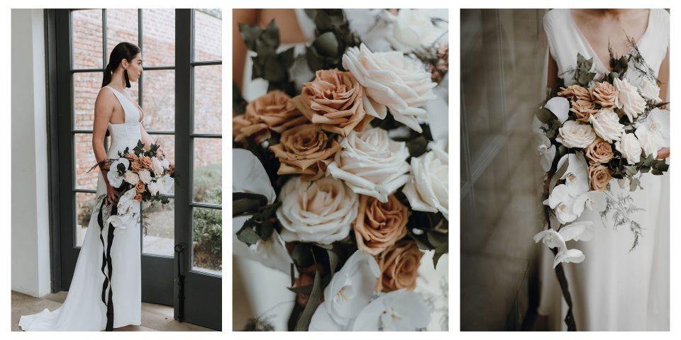 Modern Orchid & Rose Bouquet
